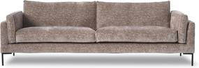 Design in Reach | Laetitia 3-zitsbank breedte 249 cmhoogte 86 cmdiepte 96 cmzithoogte oudroze zitbanken velours met ribcord | NADUVI outlet