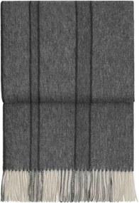 Plaid strepen, lijnen, grijs, alpaca wol: River