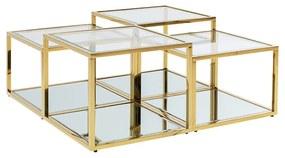 Kare Design Orion Gold Gouden Design Salontafelset - 100 X 100cm.