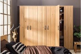 Goossens Excellent Kledingkast Nord, 270 cm breed, 222 cm hoog, 6 hout draaideuren