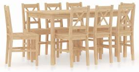 9-delige Eethoek grenenhout