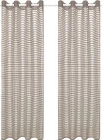 Glasgordijnen geweven gestreept 140x245 cm beige 2 st