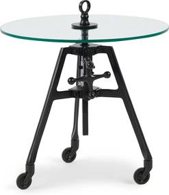 Rivièra Maison - Bricklane Table Dia 56, Black - Kleur: zwart