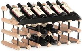 Wijnrek hout 18 flessen flessenrek