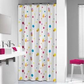 Douchegordijn Textiel Sealskin Dots Polyester Multi 180x200cm
