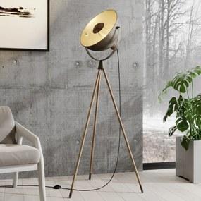 Scharlie vloerlamp met metalen kap - lampen-24