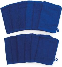 The One Towelling 12-PACK: Washandjes - 16 x 21 cm - Royal Blauw