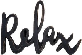 Deco letters Relax - zwart - 15x20 cm - Leen Bakker