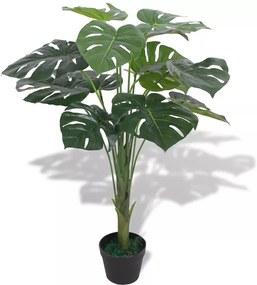 Kunst monstera plant met pot 70 cm groen