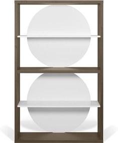 TemaHome Zero Open Boekenkast Walnoot-wit - 115x37x185cm.