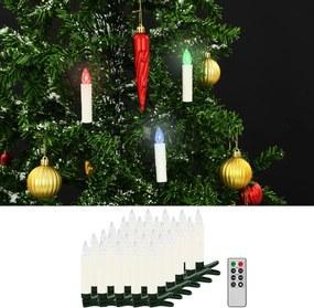 LED-kaarsen kerst draadloos met afstandsbediening 30 st RGB
