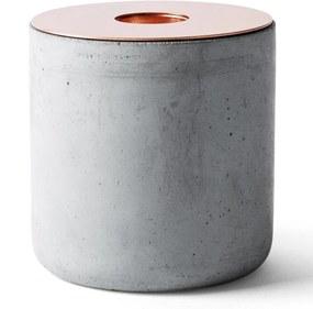 Menu | kaarsenstandaard beton Chunk large grijs kaarsenhouders & kandelaars decoratie kaarsen & kandelaars | NADUVI outlet