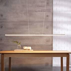Marga - witte LED hanglamp, lengte variabel
