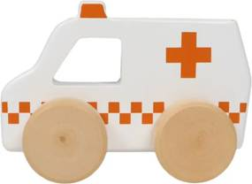 Wooden Ambulance Toy - Houten speelgoed