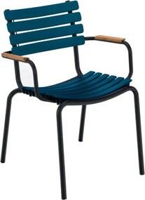 Clips Bamboo Armchair tuinstoel midnight blue set van 2