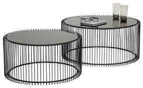 Kare Design Wire Black Salontafelset - 69.5 X 69.5cm.
