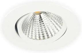 Inbouwspot LED 7W Dimbaar, Wit, Rond, Kantelbaar, 230V, Neutraal Wit
