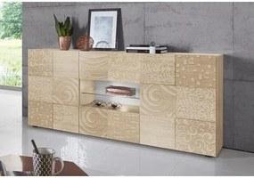 LC »Miro« dressoir, breedte 181 cm met decoratieve zeefdruk