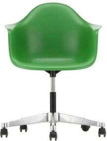 Vitra Eames PACC stoel draaibaar met wielen groen