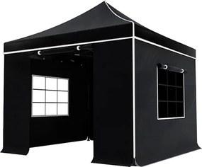 Easy up 3x3m zwart luxe partytent
