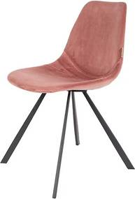 Stoel Franky velvet oud roze Dutchbone