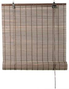 Rolgordijn bamboe - bruin/naturel - 90x180 cm