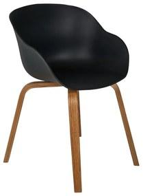 Eetkamerstoel Linde met armleuning - zwart - 58x57x78 cm