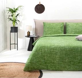 Fresh & Co Soft Melange - Groen 1-persoons (140 x 220 cm + 1 kussensloop) Dekbedovertrek