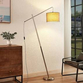 Rukaia vloerlamp met stoffen kap, grijs - lampen-24