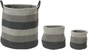 Opbergmand Sealskin Knitted Acryl Grijs 20x20cm