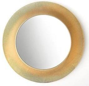 Kartell By spiegel 78 cm. rond met rand goud