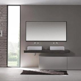 Badkamerspiegel Riva 120x60 Zwart Aluminium Lijst