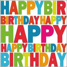 Servetten happy birthday 60x stuks - verjaardag feestje thema servetjes