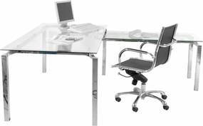 Kare Design Lorenco Corner Glazen Bureau Hoek - 180 X 210cm.
