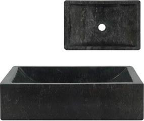 Gootsteen 45x30x12 cm marmer zwart
