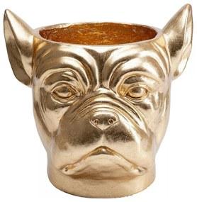 Kare Design Bulldog Gold Bulldog Plantenbak Goud