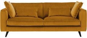 Goossens Bank Suite geel, stof, 4-zits, elegant chic
