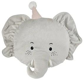 Kussen olifant - grijs - 42x47 cm