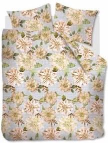 Linen Flower dekbedovertrek - Natural - Lits-jumeaux