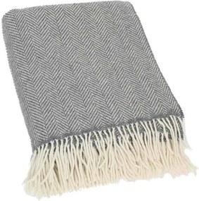 Plaid cashmere-merino: grijs