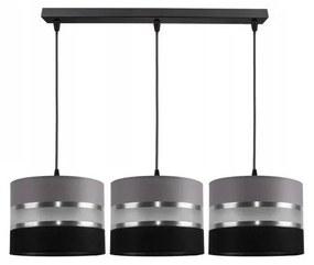 Hanglamp aan koord CORAL 3xE27/60W/230V zwart grijs