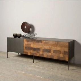 Tower Living Tv-meubel Metaal En Hout Pandora - 166x45x55cm.