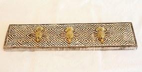 Fair & Fine | Kapstok Vita breedte 54 cm x hoogte 15 cm multicolour kapstokken hout, koper opbergen decoratie | NADUVI outlet