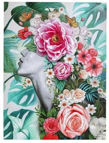 Kare Design Touched Flower Lady Jungle Bloemen Schilderij