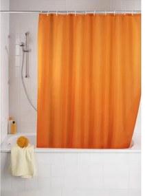 Wenko Variolock Douchegordijn polyester 180x200cm 100% polyester met anti schimmel behandeling oranje 20039100