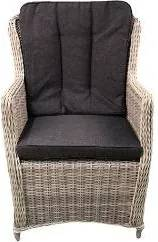 Canossa Dining stoel incl handgreep Wicker HM15 off white - stof 239