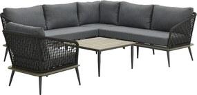 Garden Impressions Naomi loungeset 5-delig - donker grijs
