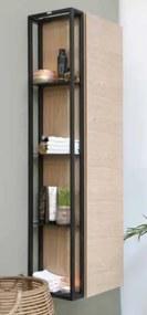 Stalen frame tbv hoge kast - mat zwart 100x320mm (bxd)