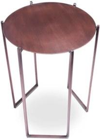 Mister Habitat   Bijzettafel The Cooper diameter 40 cm x hoogte 60 cm koperkleurig bijzettafels staal meubels tafels   NADUVI outlet