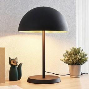 Tafellamp Idalene uit metaal, zwart-goud - lampen-24
